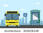 picture of a yellow city bus on ...