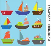 Collection Of Sailing Ships An...