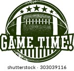 american football game time... | Shutterstock .eps vector #303039116