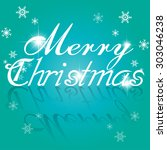 christmas greeting card. merry... | Shutterstock .eps vector #303046238