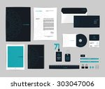 corporate identity template for ... | Shutterstock .eps vector #303047006