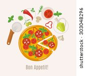 food infographics. how to make... | Shutterstock .eps vector #303048296