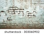 old dirty cyan wall | Shutterstock . vector #303060902