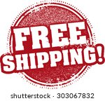 free shipping stamp | Shutterstock .eps vector #303067832