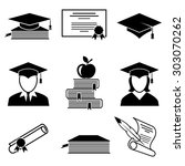 graduation and education icons... | Shutterstock . vector #303070262