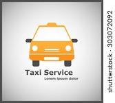 logotype for taxi service. taxi ... | Shutterstock .eps vector #303072092