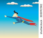 super hero. vector illustration | Shutterstock .eps vector #303092582