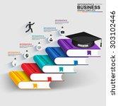 books step business education... | Shutterstock .eps vector #303102446