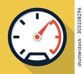 vector speedometer icon | Shutterstock .eps vector #303108296