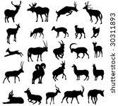 deer and antelope | Shutterstock .eps vector #30311893