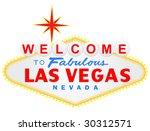 welcome to las vegas vector... | Shutterstock .eps vector #30312571