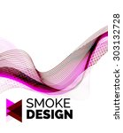 color smoke wave on white  ...   Shutterstock . vector #303132728