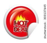 hot deal design  vector... | Shutterstock .eps vector #303137645