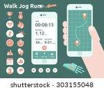 illustration of running...