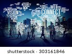 connection social media... | Shutterstock . vector #303161846