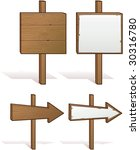 wood sign with copy space  ...   Shutterstock .eps vector #30316780