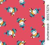 santa claus flat icon  ... | Shutterstock . vector #303173276