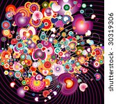 colorful love explosion   Shutterstock .eps vector #30319306