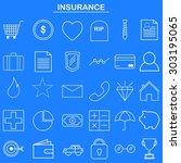 insurance linear icon for... | Shutterstock .eps vector #303195065