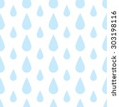 the pattern of blue drops of... | Shutterstock .eps vector #303198116