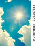 strong sun and skies vintage... | Shutterstock . vector #303207866