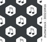 image of doubled sixteenth note ... | Shutterstock .eps vector #303210416