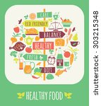 vector illustration of healthy... | Shutterstock .eps vector #303215348