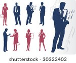 businessmen and businesswomen... | Shutterstock .eps vector #30322402