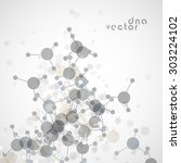 molecule background vector... | Shutterstock .eps vector #303224102