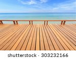 Close Up Wooden Decking Or...