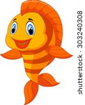 Stock vector cute fish cartoon 303240308