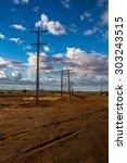 Power Lines In The Australian...