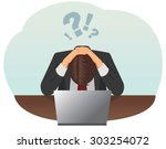 failed and stressed businessman ... | Shutterstock .eps vector #303254072