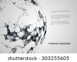 abstract futuristic background... | Shutterstock .eps vector #303255605