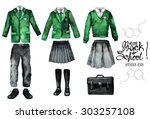 back to school collection.... | Shutterstock . vector #303257108