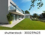 architecture  modern white... | Shutterstock . vector #303259625