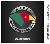 happy cameroon independence day ... | Shutterstock .eps vector #303260642