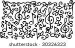 musical vignette lxvii. eau... | Shutterstock .eps vector #30326323
