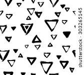 seamless triangle pattern. hand ... | Shutterstock .eps vector #303265145