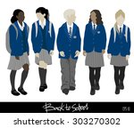 back to school . group of... | Shutterstock .eps vector #303270302