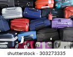 suitcases multicolor stacked... | Shutterstock . vector #303273335