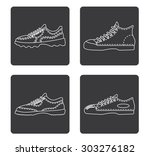 simple icon  sneakers | Shutterstock .eps vector #303276182