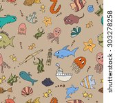 seamless abstract pattern... | Shutterstock .eps vector #303278258