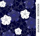 floral seamless pattern | Shutterstock .eps vector #303282626
