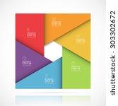 vector infographic banner... | Shutterstock .eps vector #303302672