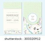 wedding invitation  thank you... | Shutterstock .eps vector #303320912