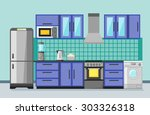 flat style illustration of a... | Shutterstock . vector #303326318