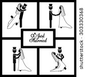 married digital design  vector... | Shutterstock .eps vector #303330368