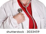female doctor with white lab... | Shutterstock . vector #3033459