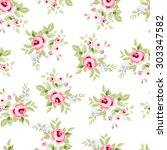 seamless floral pattern with...   Shutterstock .eps vector #303347582
